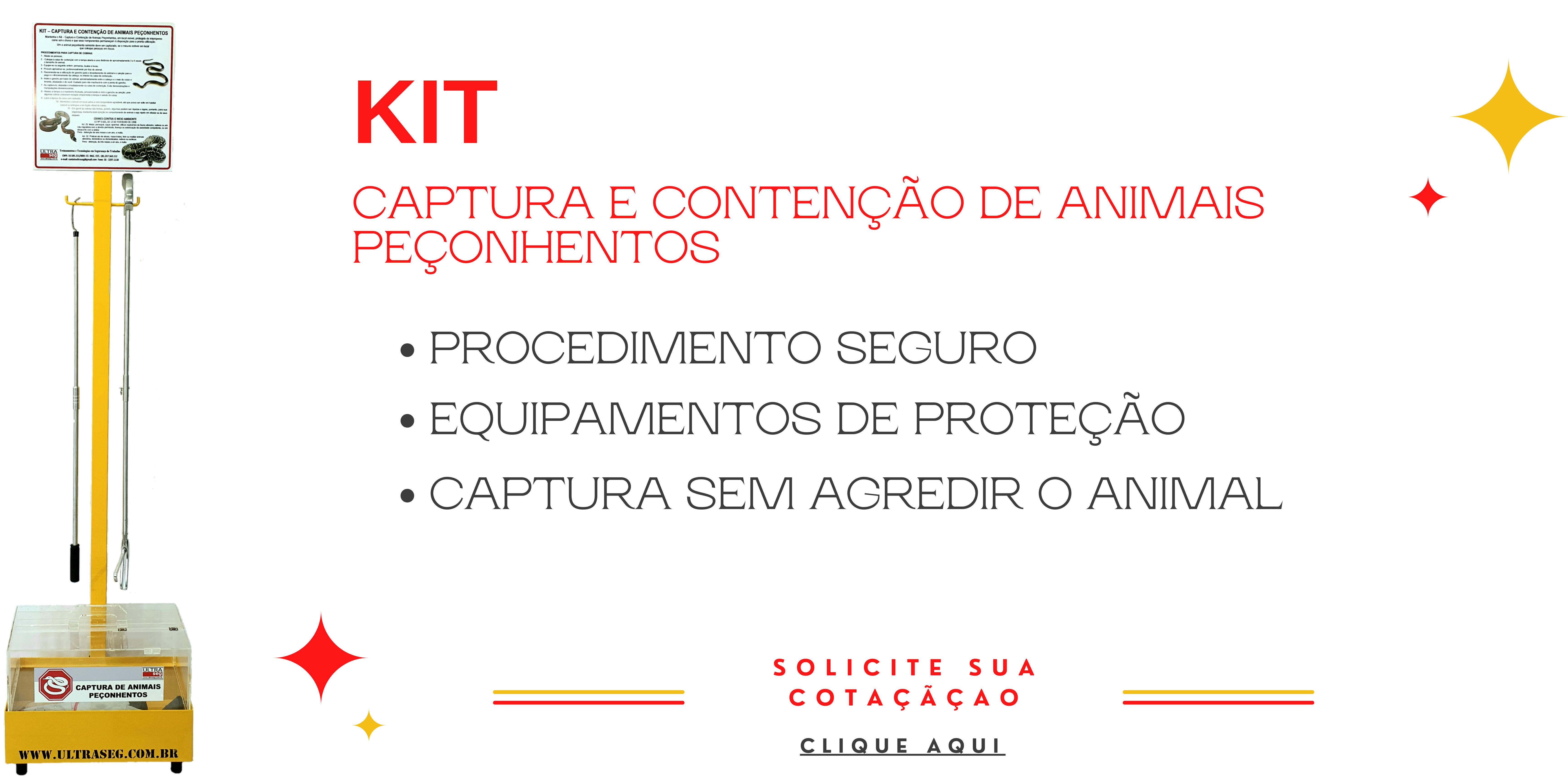 Kit de Captura e Contenção de Animais Peçonhentos